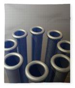 Eight Metallic Tubes Fleece Blanket