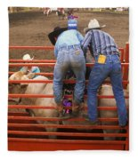 Rodeo Eight Seconds To Payday Fleece Blanket