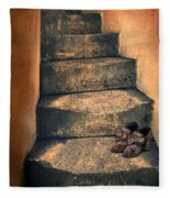 Eighteenth Century Shoes On Old Stairway Fleece Blanket