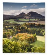 Eildon Hills   Fleece Blanket