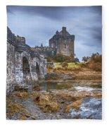 Eilean Donan Castle 3 Fleece Blanket