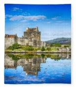 Eilean Donan Castle Reflections 2 Fleece Blanket