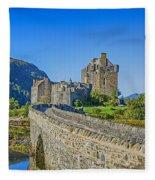 Eilean Donan Castle Walkway Fleece Blanket