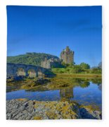 Eilean Donan Reflections Fleece Blanket