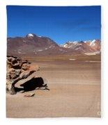 El Arbol De Piedra Bolivia Fleece Blanket