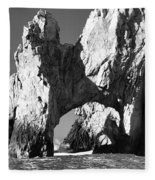 El Arco In Black And White Fleece Blanket