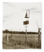 El Camino Real Mission Bell Near San Fernando Mission California 1906 Fleece Blanket