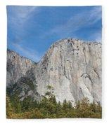El Capitan And The Wall Of Granite Fleece Blanket