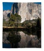 El Capitan In Yosemite 2 Fleece Blanket
