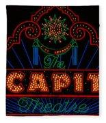 El Capitan Theatre Sign In Hollywood Fleece Blanket
