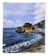 El Golfo Beach On Lanzarote Fleece Blanket