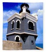 El Morro Lighthouse Fleece Blanket