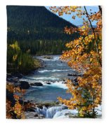 Elbow River View Fleece Blanket