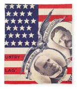 Electoral Poster For The American Presidential Election Of 1900 Fleece Blanket