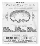 Electric Belt Ad Fleece Blanket