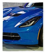 Electric Blue Corvette Fleece Blanket