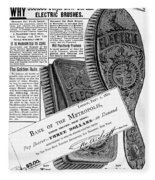 Electric Brushes, 1882 Fleece Blanket