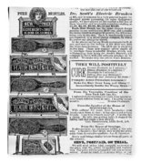 Electric Brushes, 1883 Fleece Blanket
