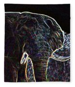 Electric Elephant Fleece Blanket