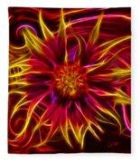 Electric Firewheel Flower Artwork Fleece Blanket