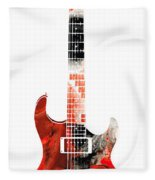 Electric Guitar - Buy Colorful Abstract Musical Instrument Fleece Blanket