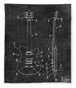 Electric Guitar Patent 039 Fleece Blanket