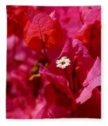 Electric Pink Bougainvillea Fleece Blanket