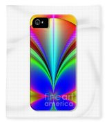 Electric Rainbow Orb Iphone Case Fleece Blanket