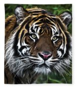 Electric Tiger Fleece Blanket