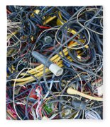 Electrical Cord Picking Fleece Blanket