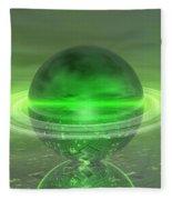 Electronic Green Saturn Fleece Blanket