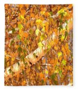 Elegant Autumn Branches Fleece Blanket