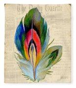 Elegant Feather-b Fleece Blanket