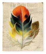 Elegant Feather-c Fleece Blanket