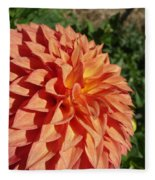 Elegant In Orange Fleece Blanket