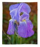 Elegant Iris Fleece Blanket
