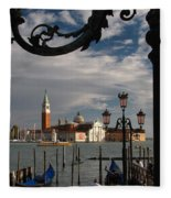 Elegant Lampost Fleece Blanket