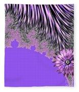 Elegant Tentacles Purple And Lilac Fleece Blanket