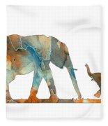 Elephant 01-2 Fleece Blanket