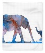 Elephant 01-3 Fleece Blanket