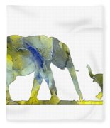 Elephant 01-5 Fleece Blanket