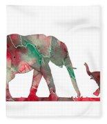 Elephant 01-6 Fleece Blanket