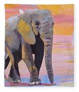 Elephant Fantasy Must Open Fleece Blanket