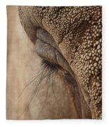 Elephant Lashes Fleece Blanket