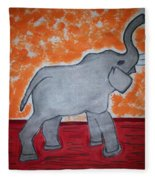 Elephant N Time Out Fleece Blanket