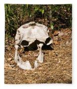 Elephant Skull Fleece Blanket