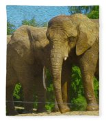 Elephant Snuggle Fleece Blanket
