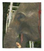Elephant Under His Thumb Fleece Blanket