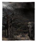 Elephants Of The Serengeti Fleece Blanket