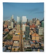 Elevated View Of Cityscape, Lake Street Fleece Blanket